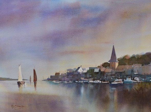 Still Evening, Bosham (Watercolour) 12x16in
