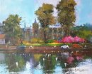 "Spring in Carshalton (Acrylic) 13x16"""