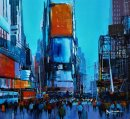 "Mid-town Manhattan (Acrylic) 20x23"""
