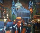Lighting up, Ludgate Hill (Acrylic) 34x40cm