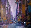 New York Rush Hour (Acrylic) 44x49cm