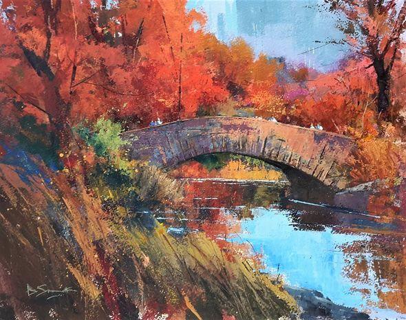 Fall in Central Park (Acrylic) 33x41cm