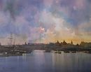 Thames Sunset (Watercolour) 34x41cm
