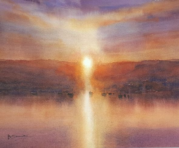 Cornish Sunrise (Watercolour) 44x32cm