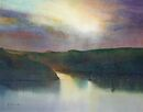 Stormy Dawn, Fowey (Watercolour) 35x44cm
