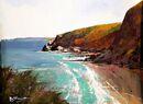 St Agnes Bay (Acrylic) 35x42cm