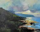 Evening on the Beach, Cornwall (Acrylic) 34x42cm