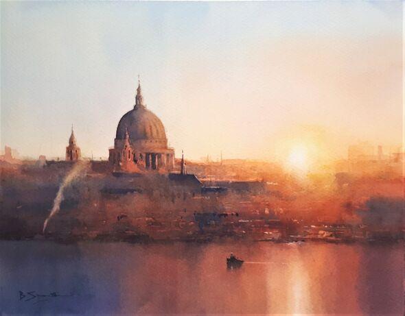London Sunrise (Watercolour) 34x42cm