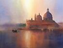Sunshine and Haze, Venice (Watercolour) 34x42cm