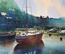 Low Tide, Looe (Watercolour) 34x42cm