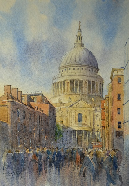 Light and Shade, St Paul's (Watercolour)