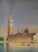 San Giorgio Dusk (Watercolour) 13x17in