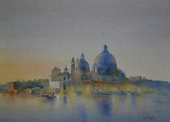 Venice Twilight (Watercolour) 10x14in