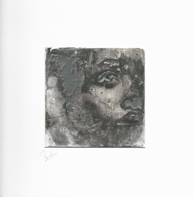 sculpture woman monoprint