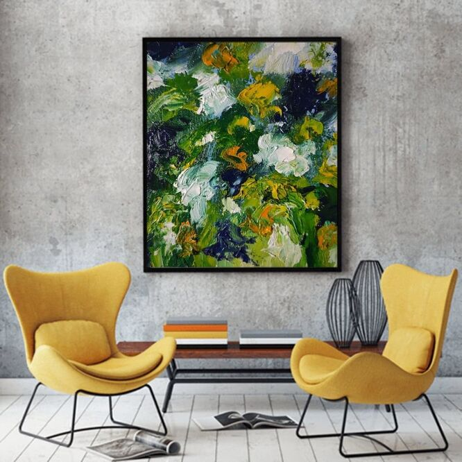 Abstract impressionistic oil painting