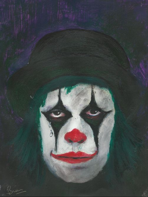 The clown oils sketch