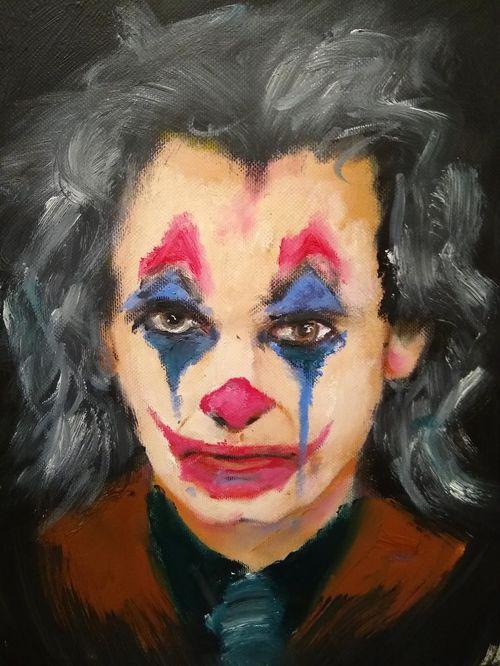 The joker oil sketch