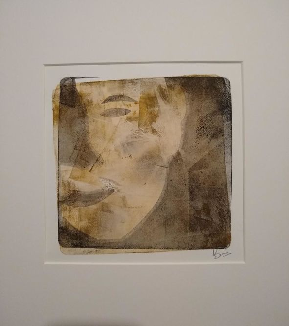 the mask monotype print