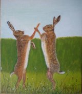 Mad March Hares (SOLD)