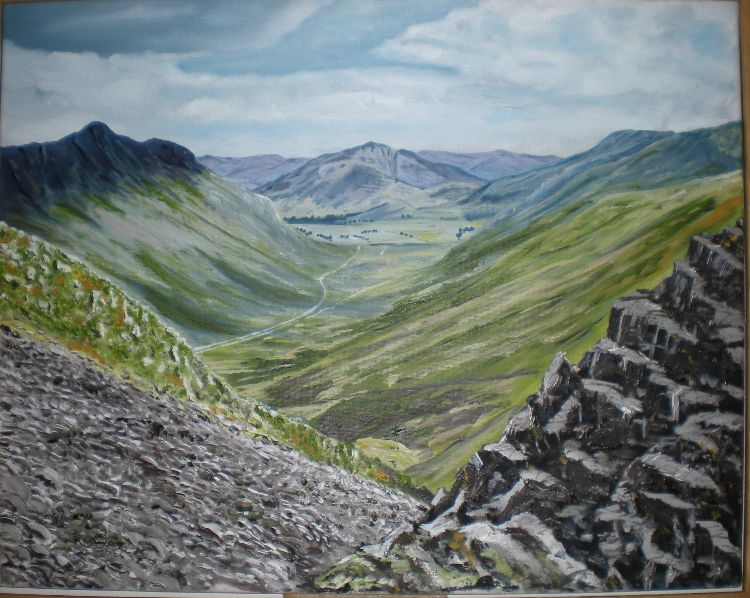 view down the valley (SOLD)