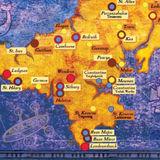 Plen an Gwari map, Cornwall