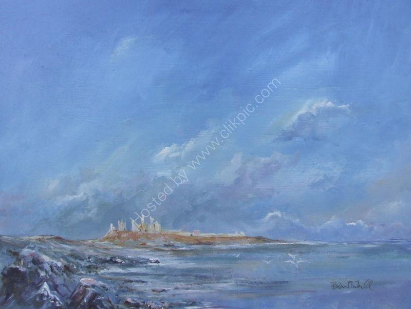 Winter Sunshine on Dunstanburgh Castle.
