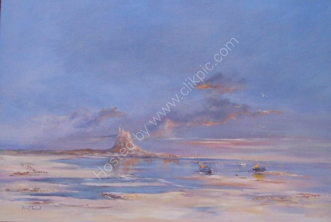 Lindisfarne , morning light.