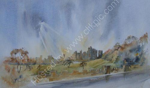 Alnwick castle ( water colour ) Sold