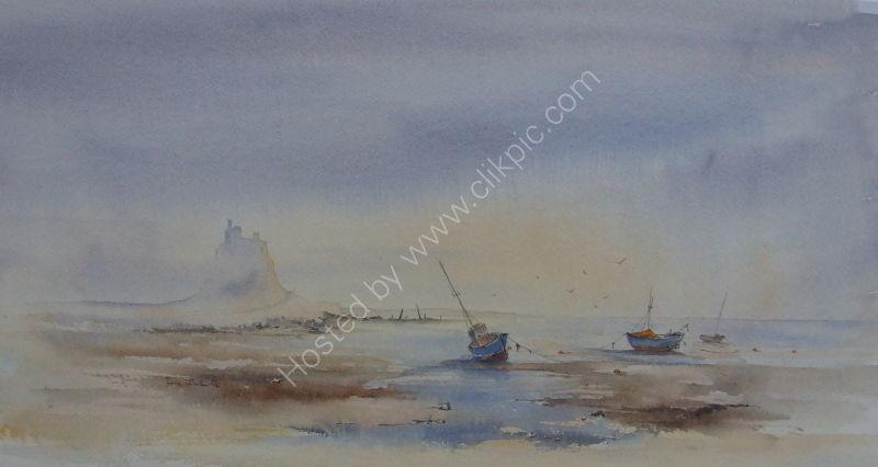 Morning light on Lindisfarne.