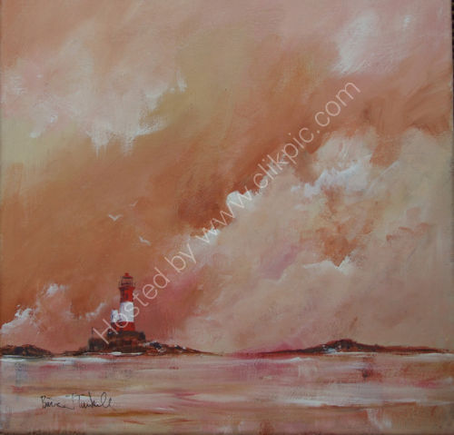 longstone lighthouse. Acrylic. Image size 300mm x 300mm (sold )