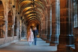A walk around the Cloisters at Chester Cathedral