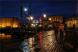 Albert Dock night lights