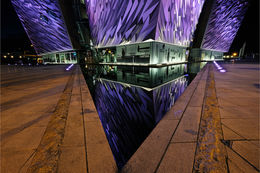 Belfast Titanic at night