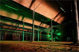 Biennial Art 'laser beams' at Toxteth Reservoir