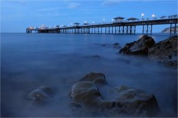 Blue hour at Llandudno Pier Wales