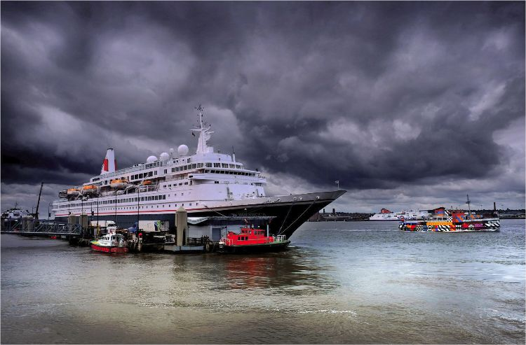 Boudicca Cruise liner in Liverpool