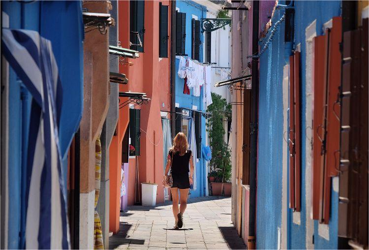 Burano street colours