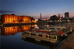 Canal Boats docked in Liverpool