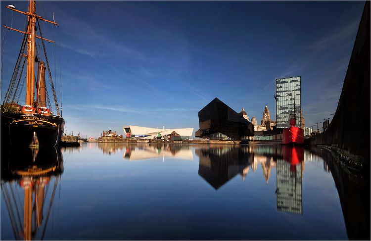 Canning Dock morning reflection