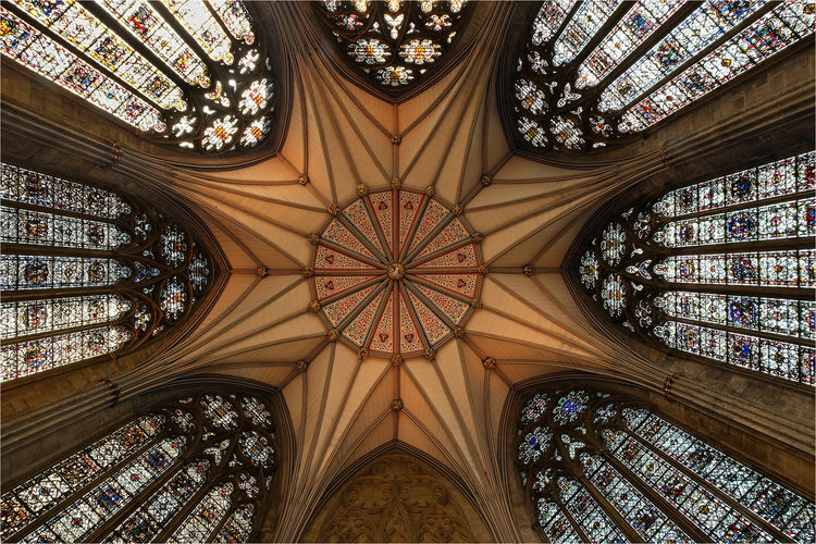 Chapter House ceiling in York Minster