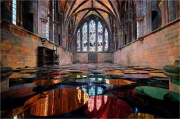 Chester Cathedral colour reflections