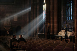 Chester Cathedral sunlight