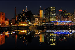 City lights Liverpool