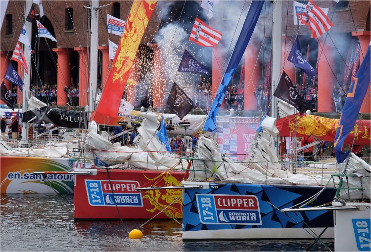 Clipper Yachts before the 2017 Round the World race