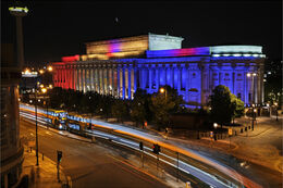Colourful St. George's Hall Liverpool