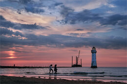 Evening paddle at New Brighton