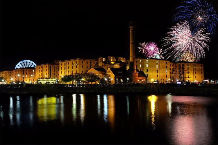 Firework Display at River of Light Night Liverpool