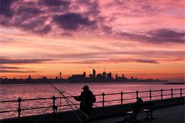 Fishing the Mersey