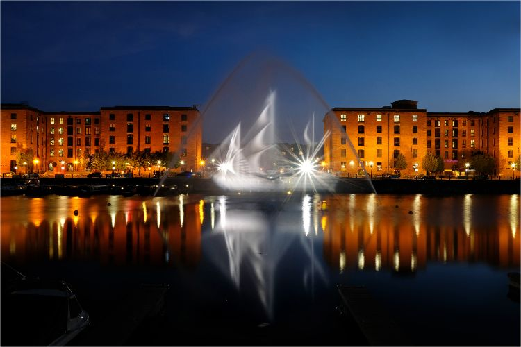 Ghost Ship in Liverpool Salthouse Dock