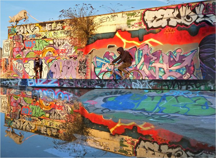 Graffiti Art scene in Liverpool Baltic Triangle